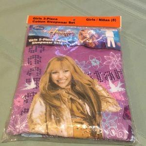 Hannah Montana Disney Girl's 2-Pc pajama's NWT Sz8